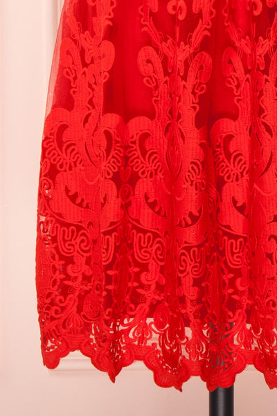 Andela Red Lace A-Line Cocktail Dress | Boutique 1861 7
