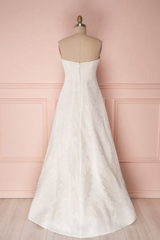 Andrieli Embroidered High-Low Bustier Bridal Dress | Boudoir 1861 5