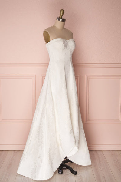 Andrieli Embroidered High-Low Bustier Bridal Dress | Boudoir 1861 3