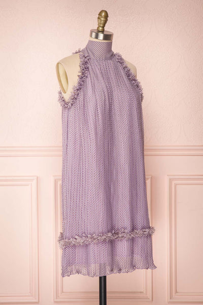 Andzelika Purple Flared Halter Cocktail Dress | Boutique 1861 3