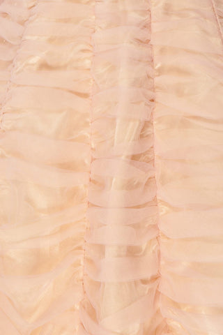 Anisa Blush Pink & Cream Pleated Tulle A-Line Dress | Boutique 1861 8