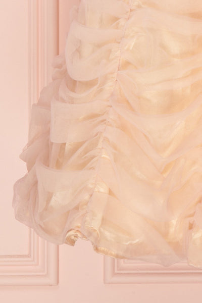 Anisa Blush Pink & Cream Pleated Tulle A-Line Dress | Boutique 1861 7