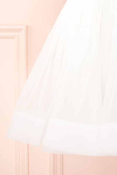 Anjali White Short Flared Tulle Dress | Boutique 1861 bottom