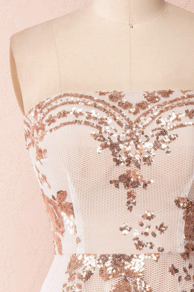 Annuska White & Beige Bustier Dress with Sequins | Boudoir 1861 2