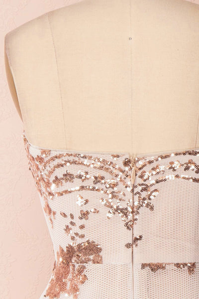 Annuska White & Beige Bustier Dress with Sequins | Boudoir 1861 6