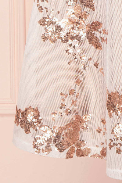 Annuska White & Beige Bustier Dress with Sequins | Boudoir 1861 7
