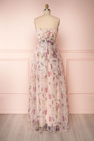 Anouk Blush Pink Floral Bustier Gown | Boutique 1861 back view