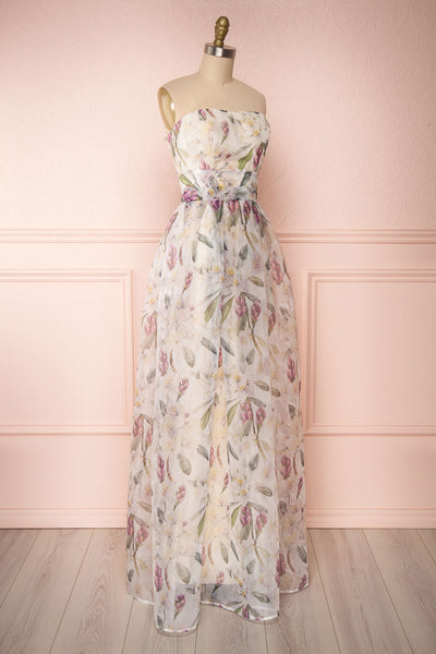 Anouk Ivory Floral Bustier Gown | Boutique 1861 side view