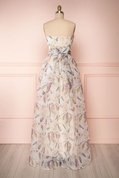 Anouk Ivory Floral Bustier Gown | Boutique 1861 back view