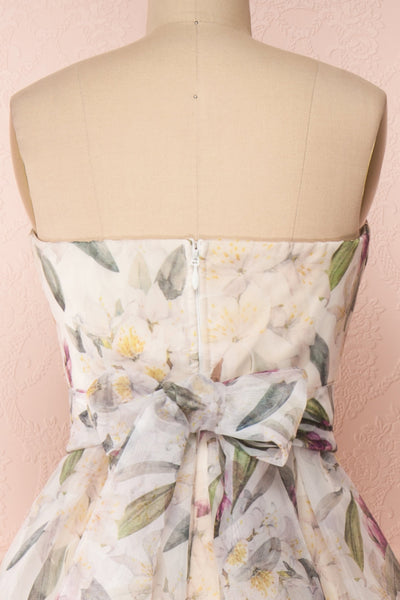 Anouk Ivory Floral Bustier Gown | Boutique 1861 back close-up