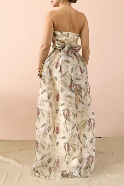 Anouk Ivory Floral Bustier Gown | Boutique 1861 model back 2