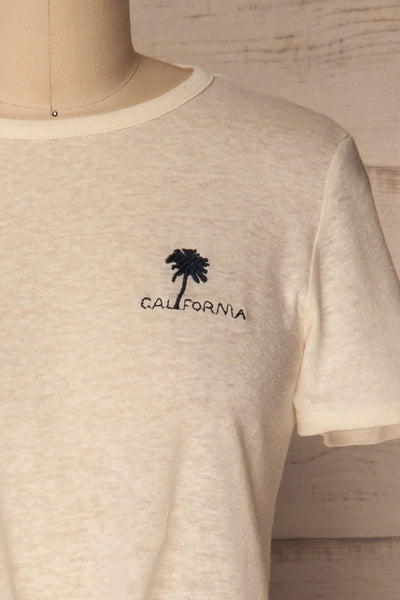 Ansen Off-White California Embroidery T-Shirt | La Petite Garçonne 2