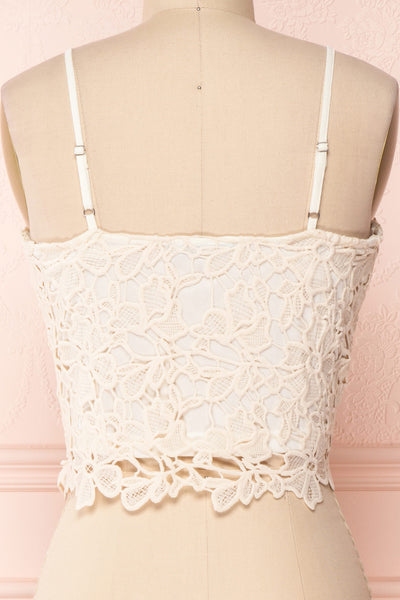 Anteai Cream Crocheted Lace Crop Camisole | Boutique 1861 6