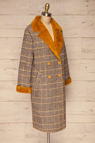 Arcanum Soft Plaid Topcoat | Manteau | La Petite Garçonne side view