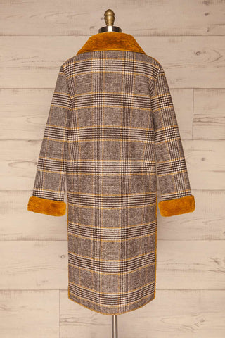 Arcanum Soft Plaid Topcoat | Manteau | La Petite Garçonne back view
