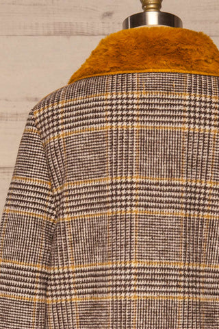 Arcanum Soft Plaid Topcoat | Manteau | La Petite Garçonne back close-up