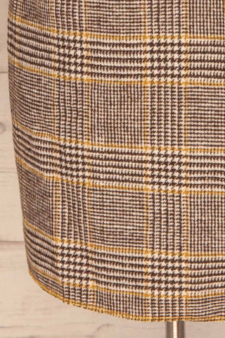 Arcanum Soft Plaid Topcoat | Manteau | La Petite Garçonne bottom close-up