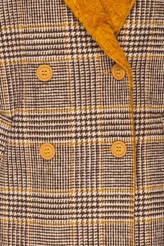 Arcanum Soft Plaid Topcoat | Manteau | La Petite Garçonne fabric detail