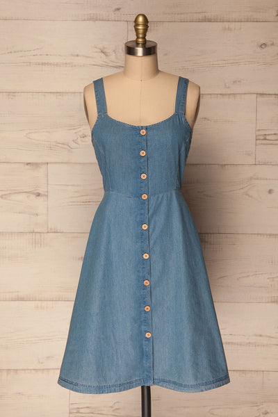 Ardpatrick Blue Denim Button-Up Summer Dress | La Petite Garçonne 1