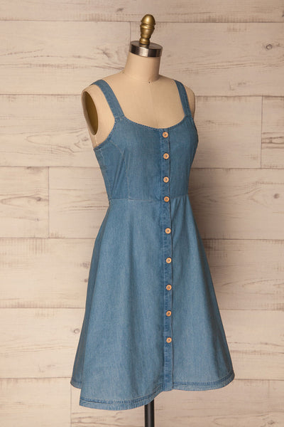 Ardpatrick Blue Denim Button-Up Summer Dress | La Petite Garçonne 3