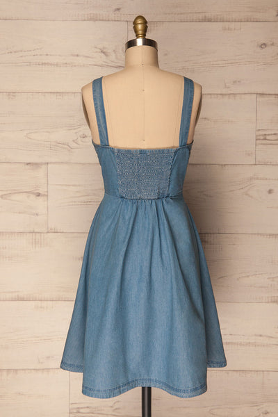 Ardpatrick Blue Denim Button-Up Summer Dress | La Petite Garçonne 5