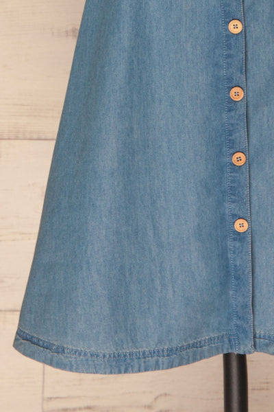 Ardpatrick Blue Denim Button-Up Summer Dress | La Petite Garçonne 7