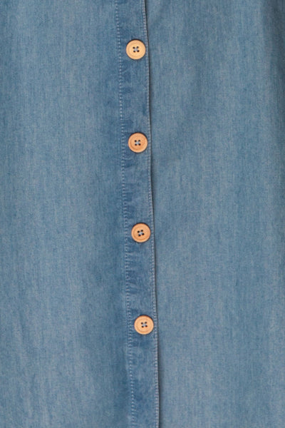 Ardpatrick Blue Denim Button-Up Summer Dress | La Petite Garçonne 8