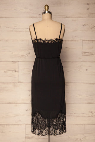 Argostoli Black Slip Dress with Lace | La Petite Garçonne Chpt. 2 5