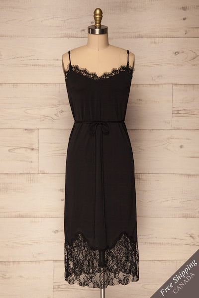 Argostoli Black Slip Dress with Lace | La Petite Garçonne Chpt. 2 1