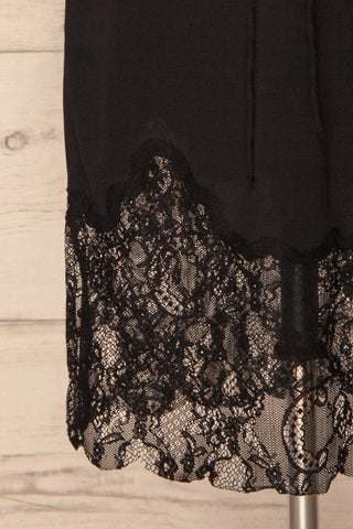 Argostoli Black Slip Dress with Lace | La Petite Garçonne Chpt. 2 7