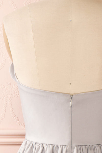 Ariel Lune - Light grey sea shell bustier dress back close-up