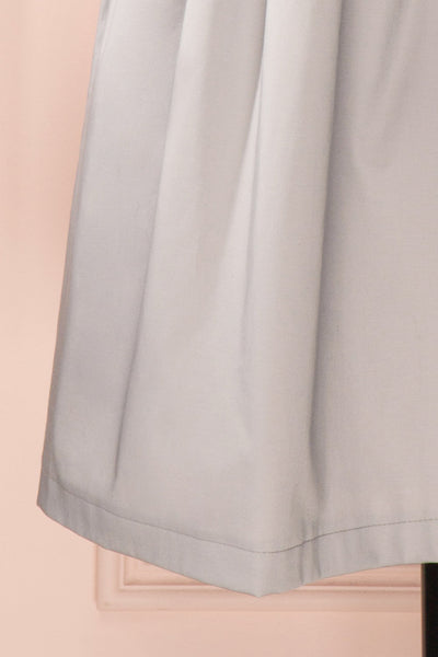 Ariel Lune - Light grey sea shell bustier dress bottom close-up
