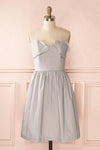 Ariel Lune - Light grey sea shell bustier dress front view