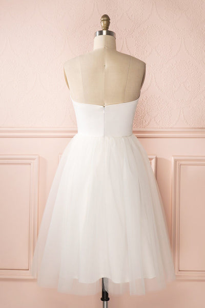 Ariella - White sea shell bustier dressAriella - White sea shell bustier dress back view