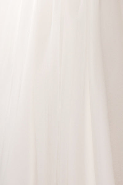 Ariella - White sea shell bustier dress texture