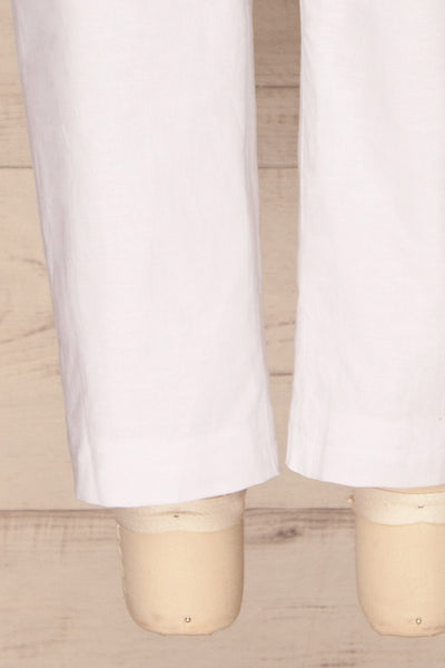 Arinsal White High Waist Cropped Pants | La petite garçonne bottom