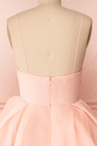 Armande Voluminous Light Pink Maxi Dress back close up | Boutique 1861
