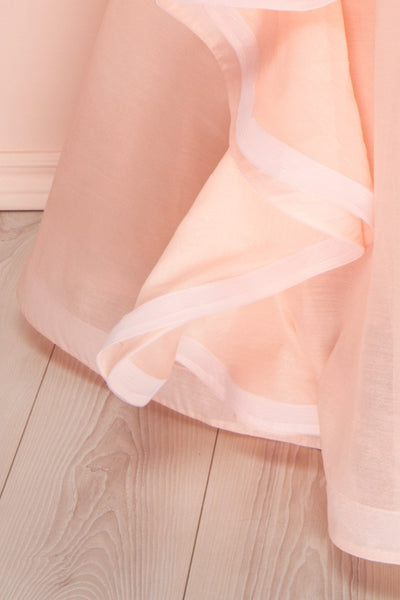 Armande Voluminous Light Pink Maxi Dress skirt | Boutique 1861