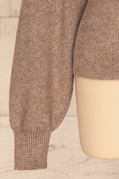 Armis Chestnut  Ribbed Faux Wrap Sweater | La petite garçonne bottom