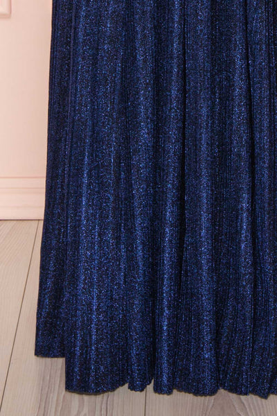 Arnemande Navy Pleated Gown w/ Glitters skirt | Boutique 1861
