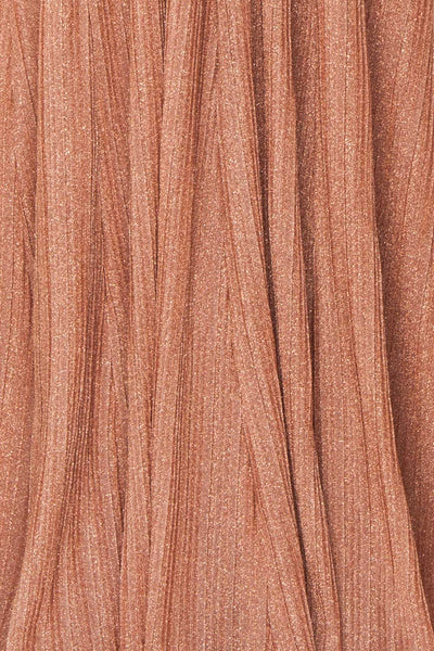 Arnemande Rosegold Pleated Gown w/ Glitters fabric | Boutique 1861