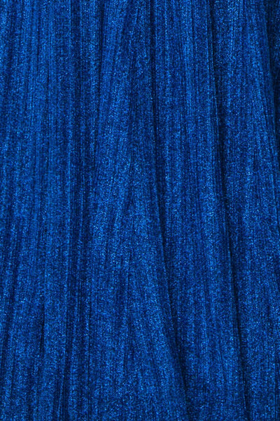 Arnemande Royal Blue Pleated Gown w/ Glitters fabric | Boutique 1861