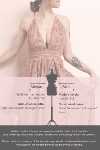 Arnemande Rosegold Pleated Gown w/ Glitters | Boutique 1861 template