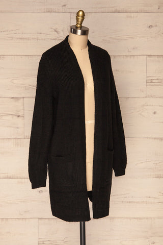 Arnhem Anis Black Knit Cardigan w/ Pockets | La Petite Garçonne side view
