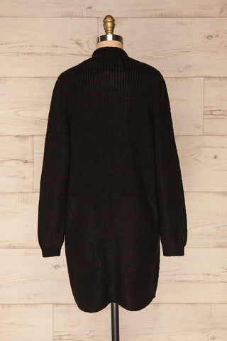 Arnhem Anis Black Knit Cardigan w/ Pockets | La Petite Garçonne back view