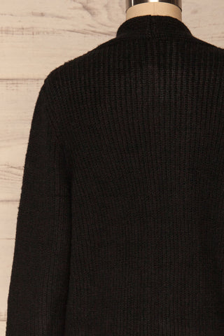 Arnhem Anis Black Knit Cardigan w/ Pockets | La Petite Garçonne back close-up