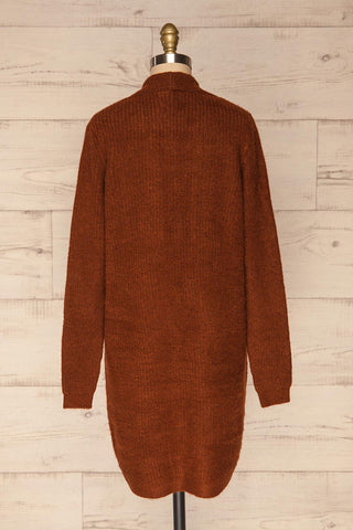 Arnhem Muscade Brown Knit Cardigan w/ Pockets | La Petite Garçonne back view
