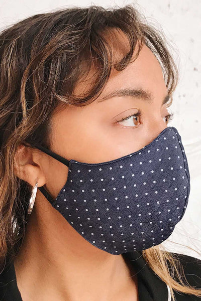 Face Mask Polka Dot | Boutique 1861 on model