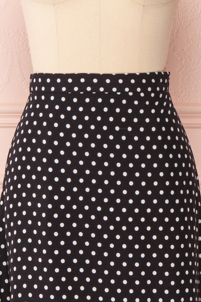 Ashling Black & White Polkadot Flare Midi Skirt | Boutique 1861 3