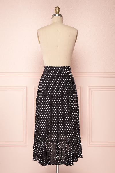 Ashling Black & White Polkadot Flare Midi Skirt | Boutique 1861 6